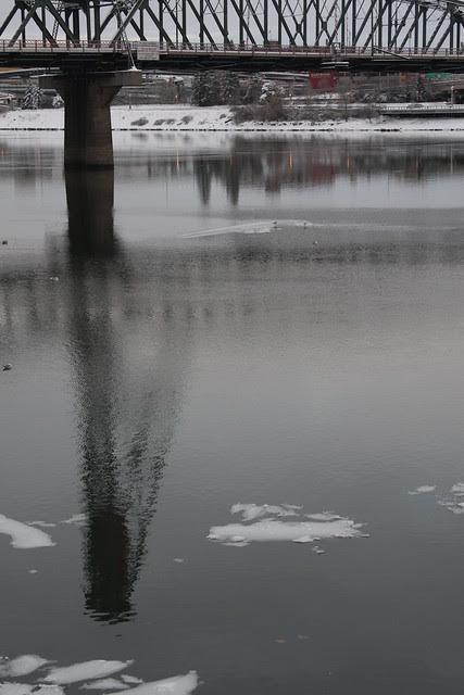 ice, willamette river