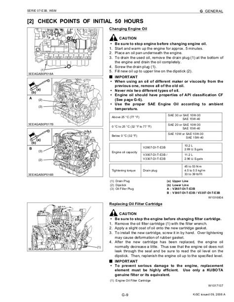 KUBOTA V2607-DI-T-E3B DIESEL ENGINE Service Repair Manual