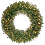 National Tree NF-318L-48W 48 in. Norwood Fir Wreath with 300 Warm White LED Lights
