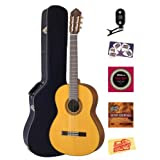 Yamaha CG162S Spruce Top Classical Guitar Bundle with Hardshell Case, Tuner, Instructional DVD, Strings, Pick...