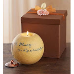 1-800-Flowers in Memory of A Life So Beautifully Lived Candle