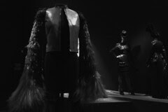 Gaultier - Leather Jacket with Feathers