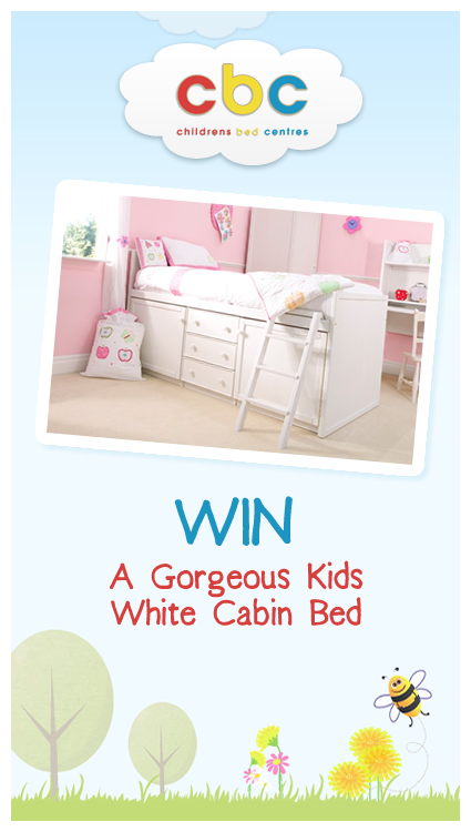 Win a Beautiful Kids White Cabin Bed!