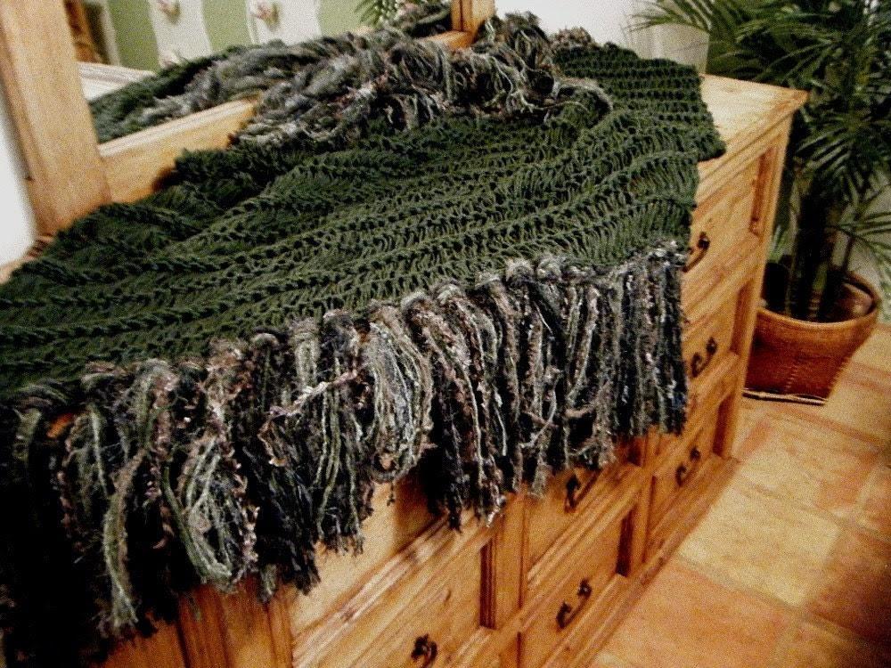 Irish Celtic Dark Green Home Decor Accent Fringe by CricketsHome