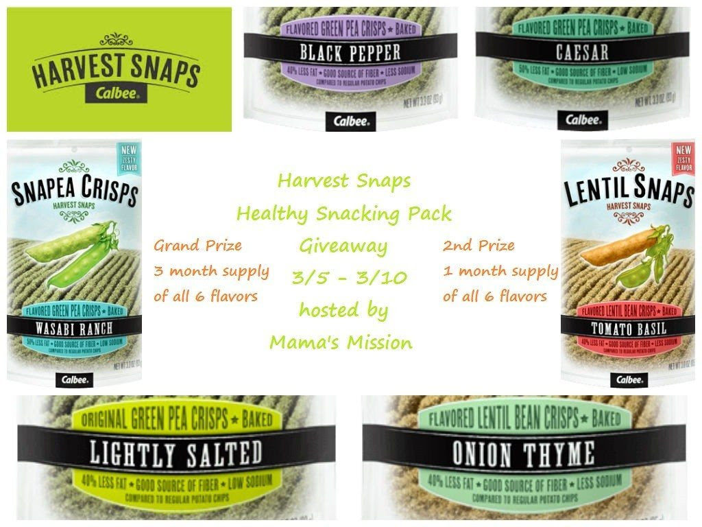 harvest snaps all flavors giveaway