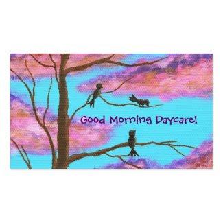 Daycare Babysitting Business Profile Card Design Business Card