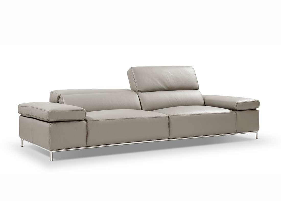 Grey leather sofa NJ 800 | Leather Sectionals