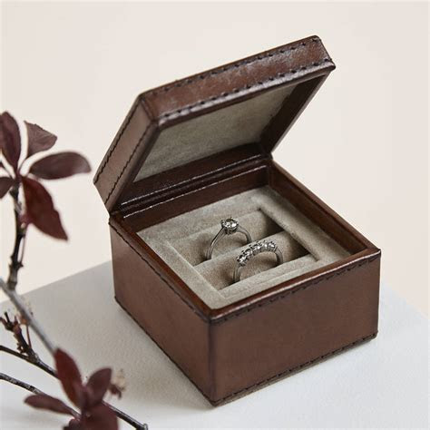leather wedding ring box by life of riley