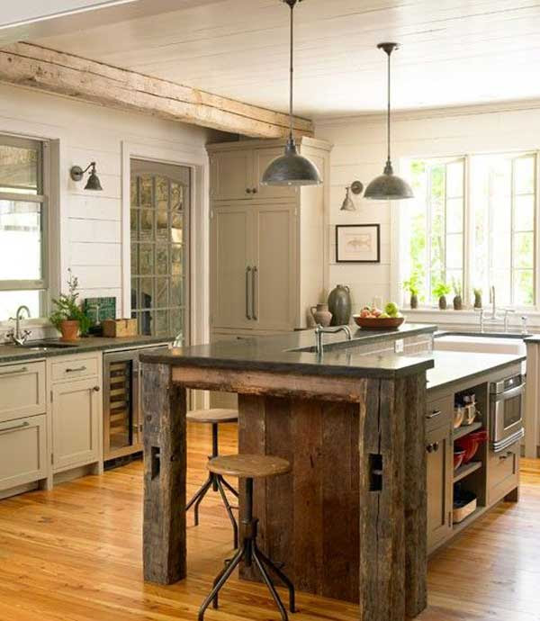32 Simple Rustic Homemade Kitchen Islands - Amazing DIY, Interior ...