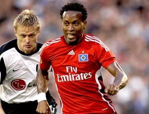 Zé Roberto no jogo entre Hamburgo e Fulham - 29/04/10