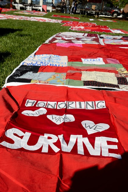 Monument Quilt, which features stories of sexual assault survivors, promotes 'public healing'