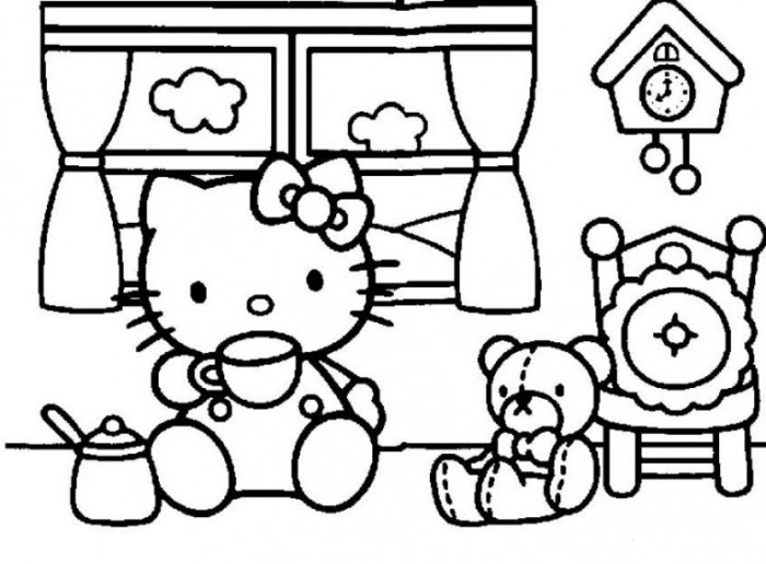 Belajarmewarnai Hello Kitty 2jpg Clip Art Library