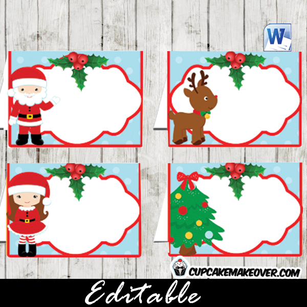 Christmas Gift Tags, Editable Labels – INSTANT DOWNLOAD