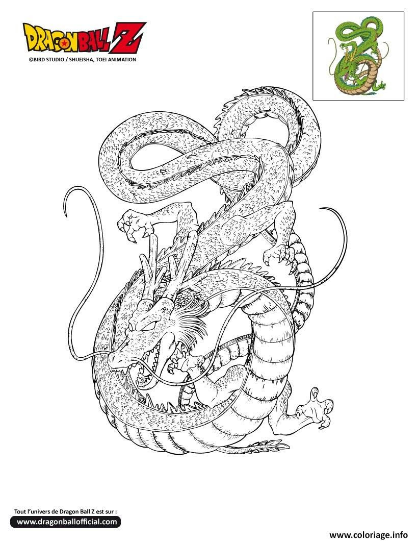 Coloriage Dbz Shenron Dragon Ball Z ficiel Dessin  Imprimer