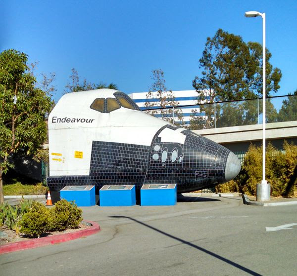 A photo I took of space shuttle Endeavour's forward fuselage replica that's on display at Discovery Cube Orange County in Santa Ana, on September 20, 2014.