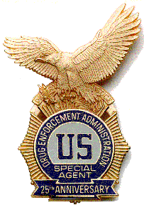 Drug Enforcement Administration badge.