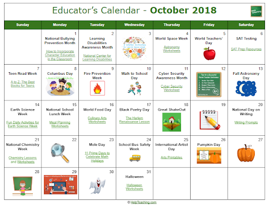 US Educator's Calendar 2017-2018