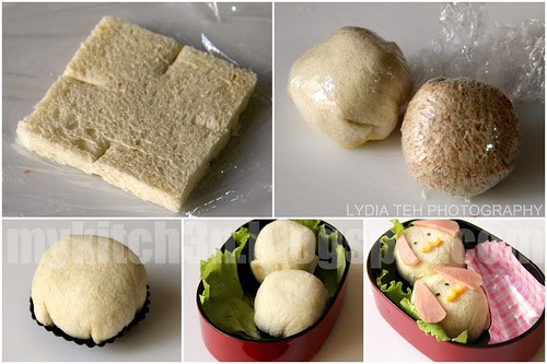 Sweet Corn Sandwich Bento
