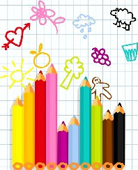 Pencil Crayon Notepaper