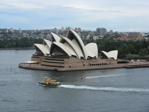 opera house from the harbor bridge