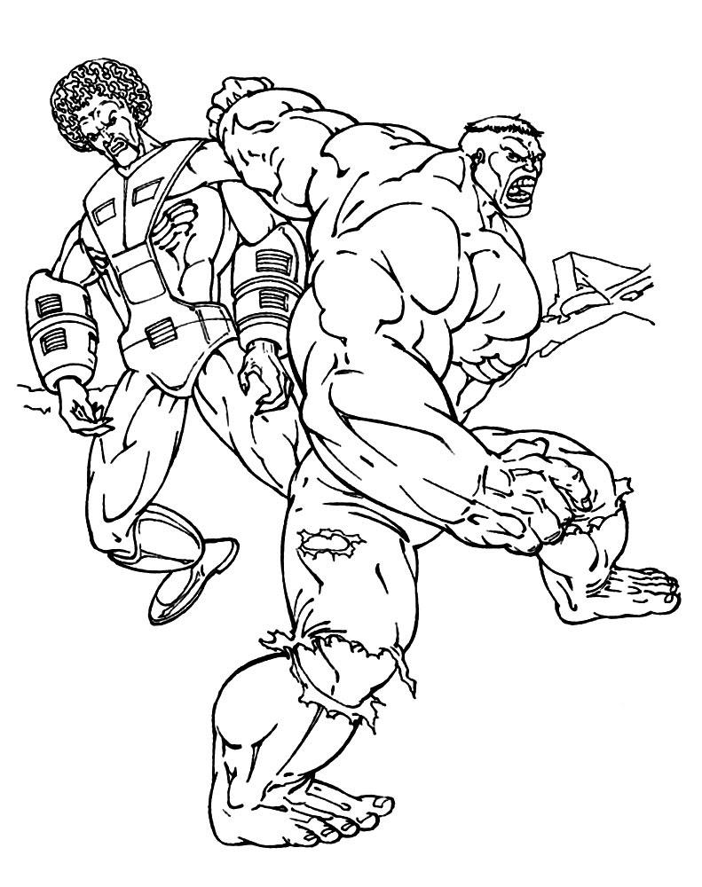 Dibujos Para Colorear Hulk Imprimir Gratis