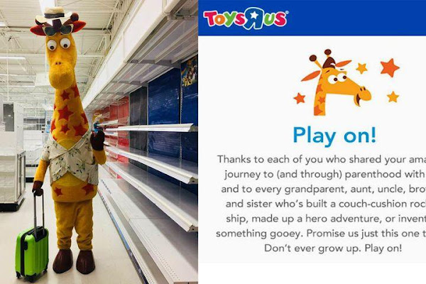 8b6fbe704 This Viral Photo of Geoffrey the Giraffe's Last Day at Toys 'R Us Will  Crush You