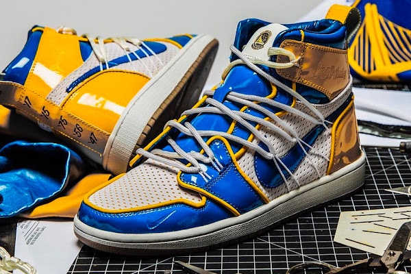 bdb25ef4b50f4 UPDATE  Golden State Warriors   The Shoe Surgeon Tease Custom Air Jordan 1