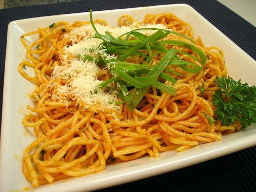 Spaghettini Huile Tomatée