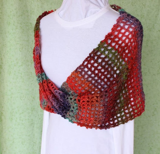 Mobius Crocheted Wrap Red Crochet Cowl Mobius Cowls Multi