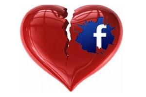Coração partido através do Facebook (Foto: Arte: All Facebook)
