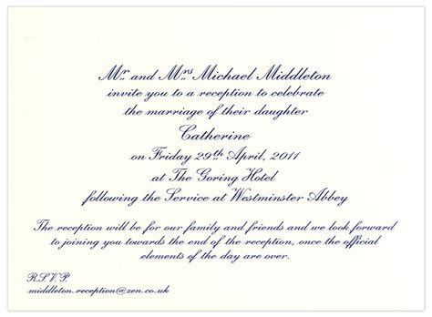 Prince William and Kate Middleton's wedding reception