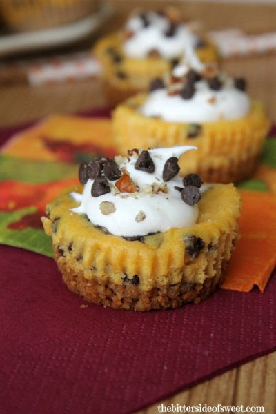 Chocolate-Chip-Pumpkin-Cheesecake-Bites-The Bitter Side of Sweet
