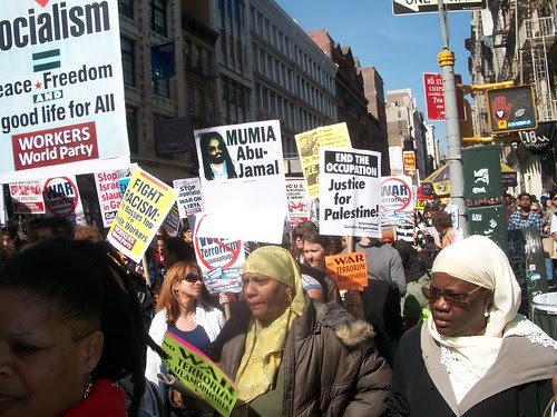 Participants in the national demonstration against all the wars from Central Asia to the Middle East and North Africa. (Photo: Abayomi Azikiwe) by Pan-African News Wire File Photos