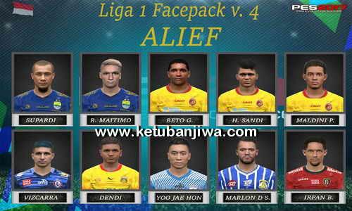 PES 2017 Gojek Traveloka Liga 1 Faces Pack v4 For iPatch ...