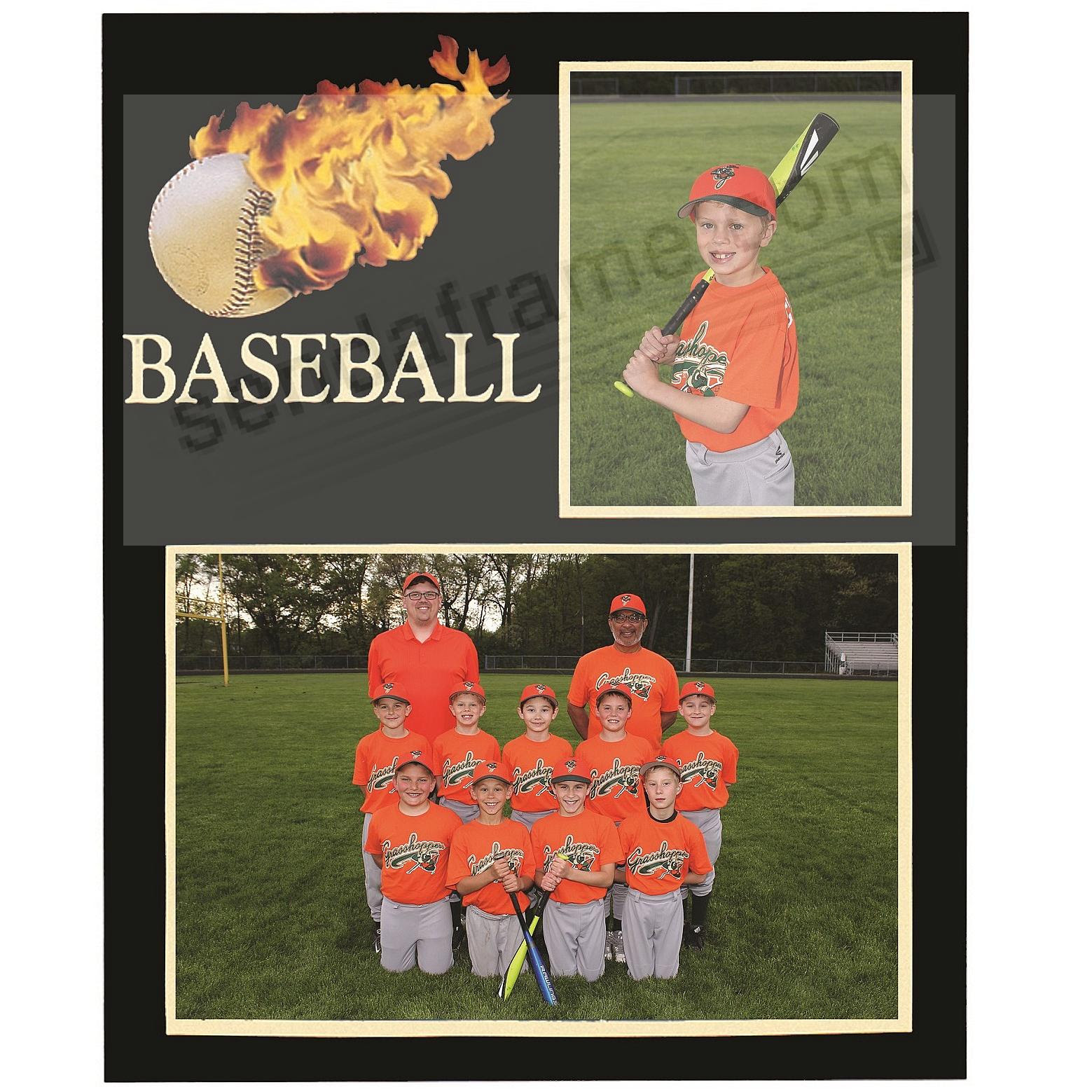 Baseball Playerteam 7x53½x5 Memory Mates Cardstock Double Photo