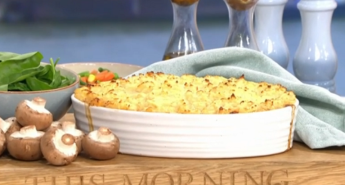 Phil Vickery cottage pie with mushrooms and frozen mash ...