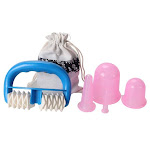 Silicone Anti Cellulite Vacuum Massage Cups - Body Pain Relief Roller Manual Suction Cups Therapy