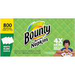 Bounty Napkins, Quilted, White, 1-Ply - 4 packages