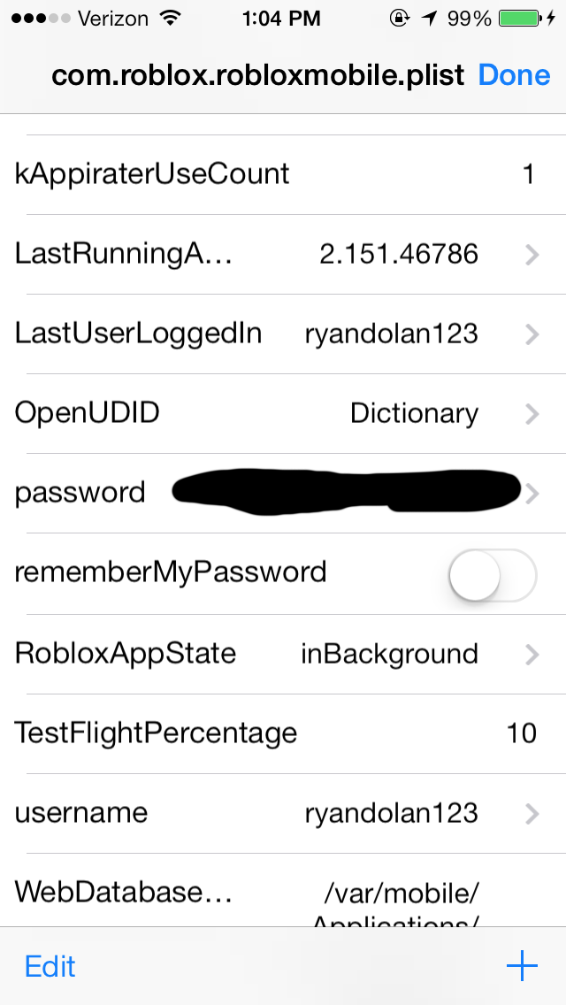 Security Issue On Roblox Mobile Ios Passwords Are Stored - how to see your roblox password