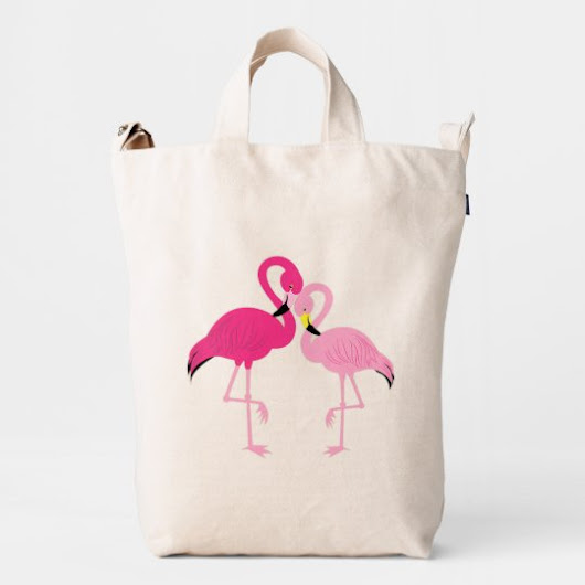 Two Pink Flamingos Duck Bag