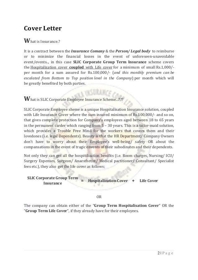 Insurance Proposal - SLIC Corporate Employee (Format)