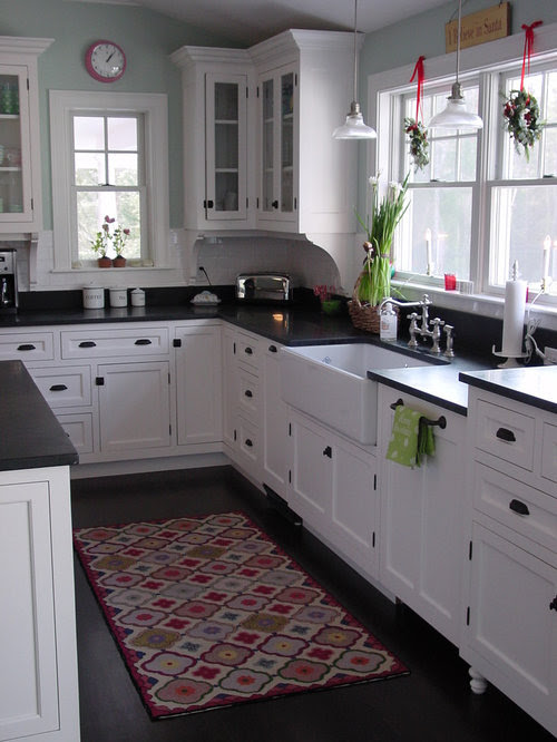 Black Hardware White Cabinets Home Design Ideas, Pictures ...