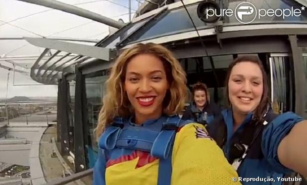 Beyoncé salta de bungee jump em prédio de 328 metros na Austrália: 'Estou ótima. Eu amei'
