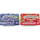 Smucker's Jam, Strawberry, Grape - 200 cups, 0.5 oz each