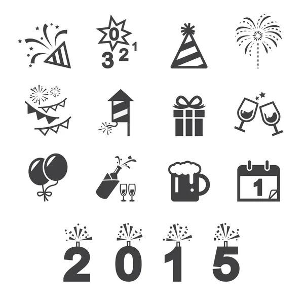 Feliz año nuevo icono — Vector de stock #61613489