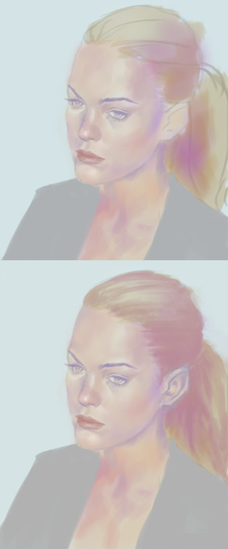 how to paint high key portrait