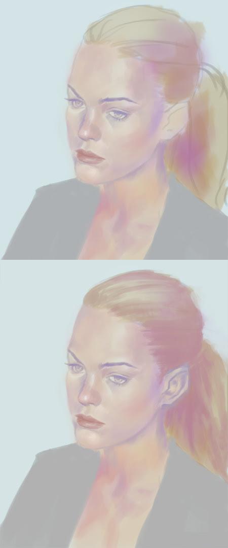how to paint high key portrait