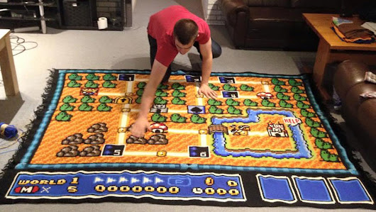 A Man Has Spent Six Years Crocheting Super Mario Bros 3 Map