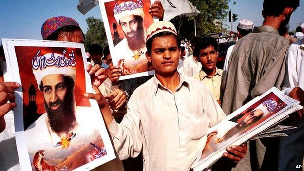 Pro-Bin Laden demonstration in Karachi, Pakistan (file photo)