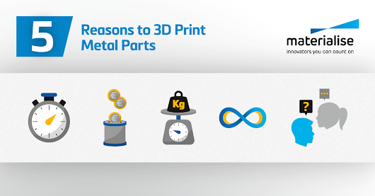 3D Printing Metal Parts: 5 Reasons to Start | Materialise - Innovators you can count on